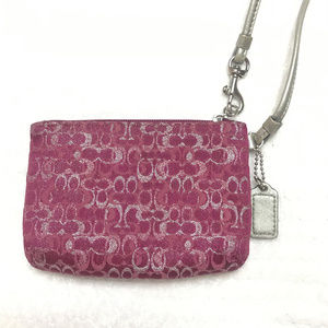 Coach Bags - Metallic Canvas Mini Purse Wallet wristlet